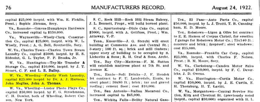 Manufacturers Record. August 24, 1922.