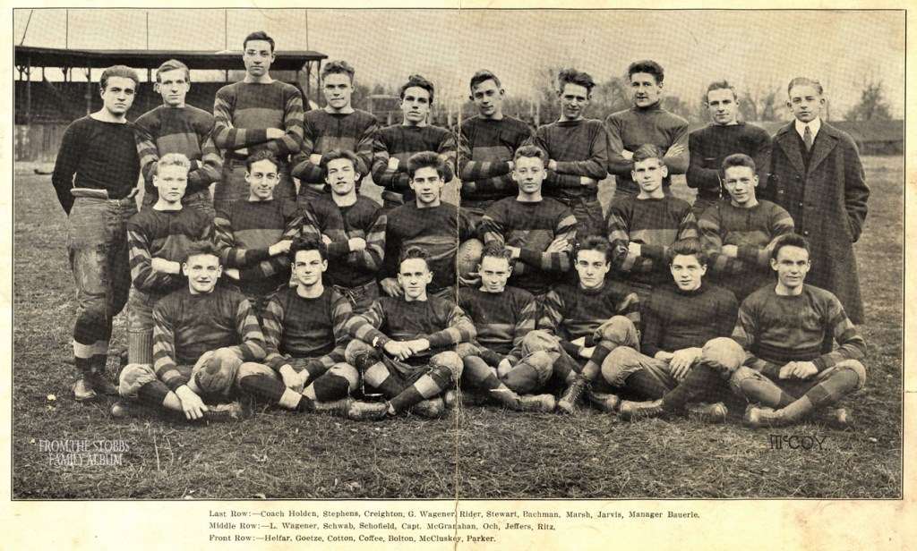 The 1916 Wheeling High football squad