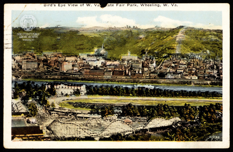 Bird's Eye View of W. Va. State Fair Park, postmarked Jun 16, 1927.