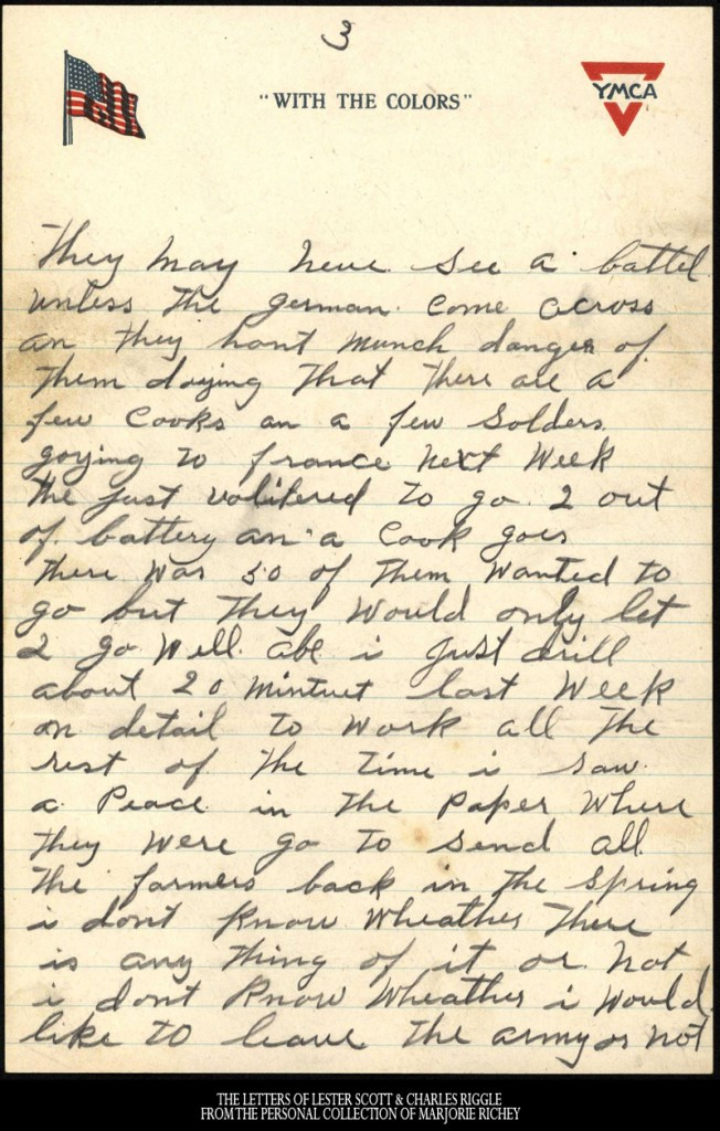 December 23, 1917: From Camp Lee to the Great War: The Letters of Lester Scott and Charles Riggle - From the personal collection of Marjorie Richey