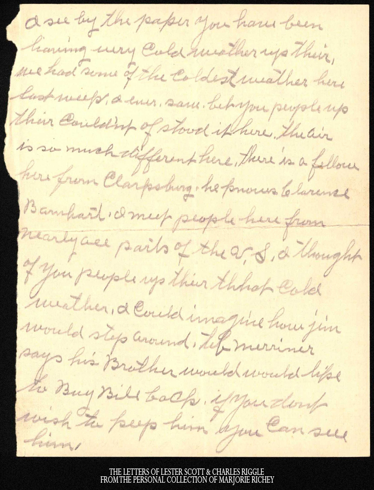 January 24, 1918: From Camp Lee to the Great War: The Letters of Lester Scott and Charles Riggle - From the personal collection of Marjorie Richey