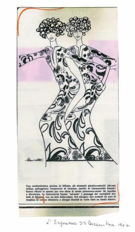 1967 L'ESPRESSO Disegno Brunetta pe 68