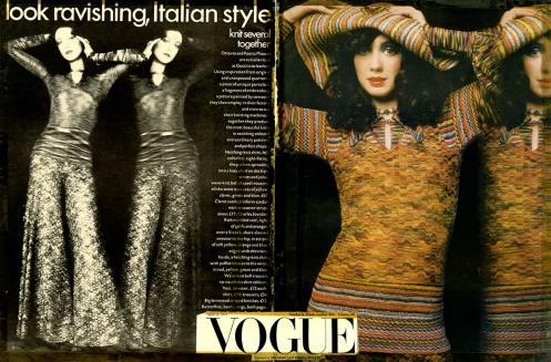 1971 VOGUE USA Le greche Look ravishing Italian style