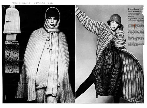1976 VOGUE ITALIA Preferisco mettere quattro maglie belle lunghe