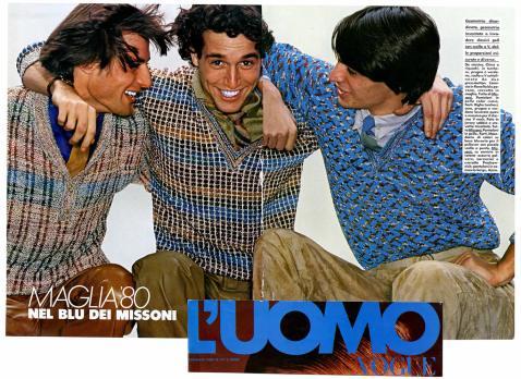1980 L'UOMO VOGUE Nel blu dei Missoni