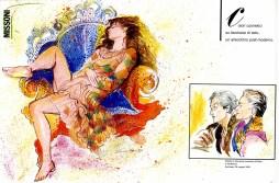 1981 VANITY Colori cosmetici su tavolozza di seta - un arlecchino post-moderno