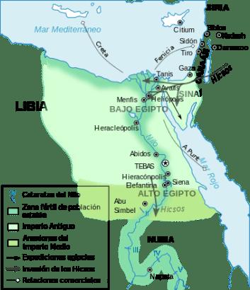 La entrada de los Hicsos en el continente africano