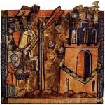 Cruzados-lanzando-cabezas-decapitadas-durante-el-asedio-a-la-ciudad-de-Nicea-en-1097