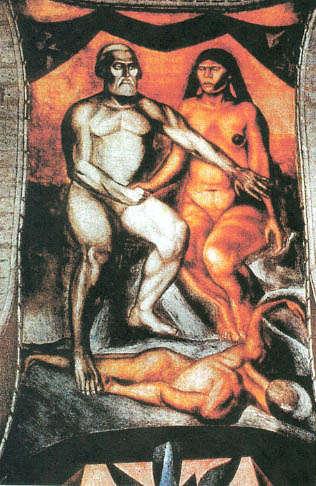 Cortés Malinche Adán y Eva