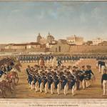 Generoso Jaspe Fusilamiento de los próceres de Cartagena Ca. 1886 Litografía en color.