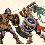 panish-conquistador-fighting-against-an-aztec-eagle-warrior-during-the-spanish-conquest-of-the-aztec-empire-in-1521