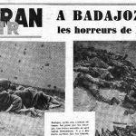 Matanza de Badajoz en medios franceses