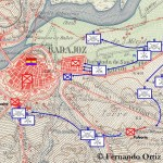 Plano batalla de Badajoz 1936