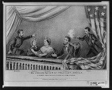 Litografía sobre el asesinato de Lincoln