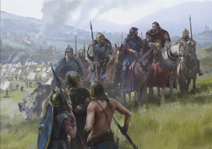 Visigodos en los campos catalaunicos