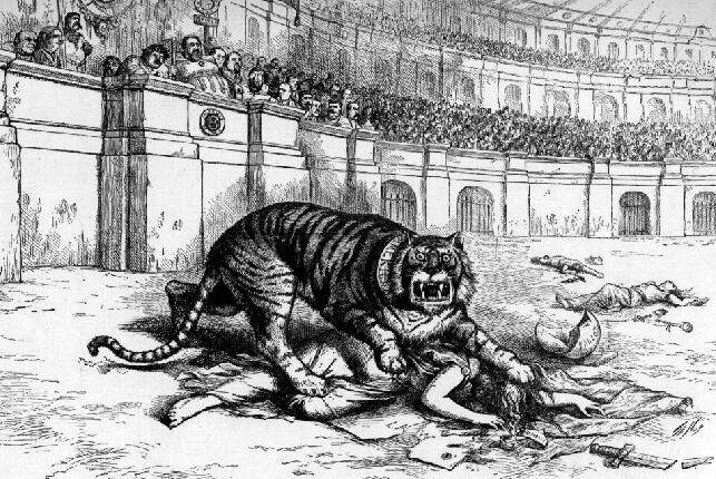 Caricatura de Thomas Nast (1840-1902) que denuncia a Tammany como un tigre que mata a la democracia.