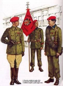 Uniforme de partida de la División Azul.