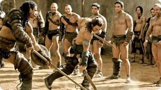Entrenamiento de los gladiadores