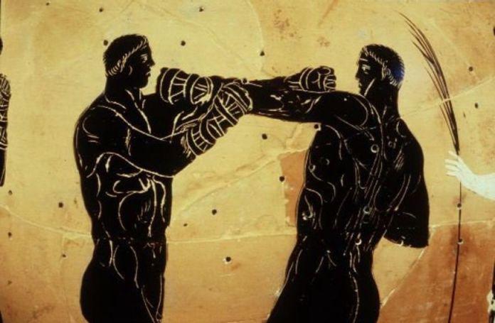 ánfora 336 ac boxeo