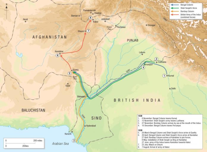 La primera guerra anglo-afgana (1839-1842)