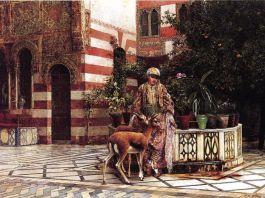 Joven en una corte Mora (1880), Edwin Lord Weeks