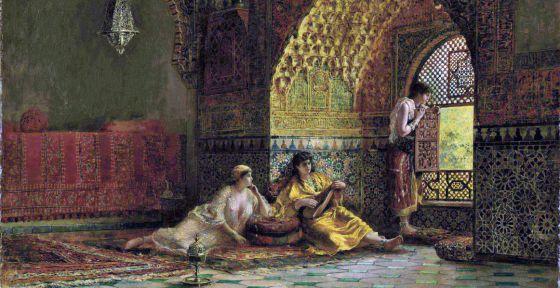 Interior de la torre de las infantas. Edwin Lord Weeks