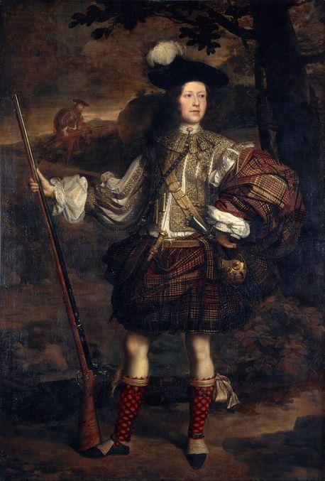 Mercenario Escocés de caza con tartán