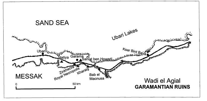 Distribución de Wadi el Agial