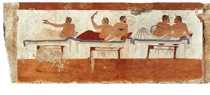 Tumba del Nadador 480-470 a.C. Museo Arqueológico de Paestum.
