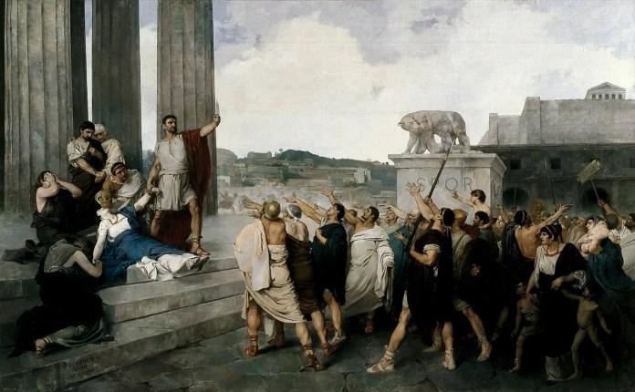 """""""El Origen de la República Romana"""", (1877). Casto Plasencia, Museo Del Prado"""