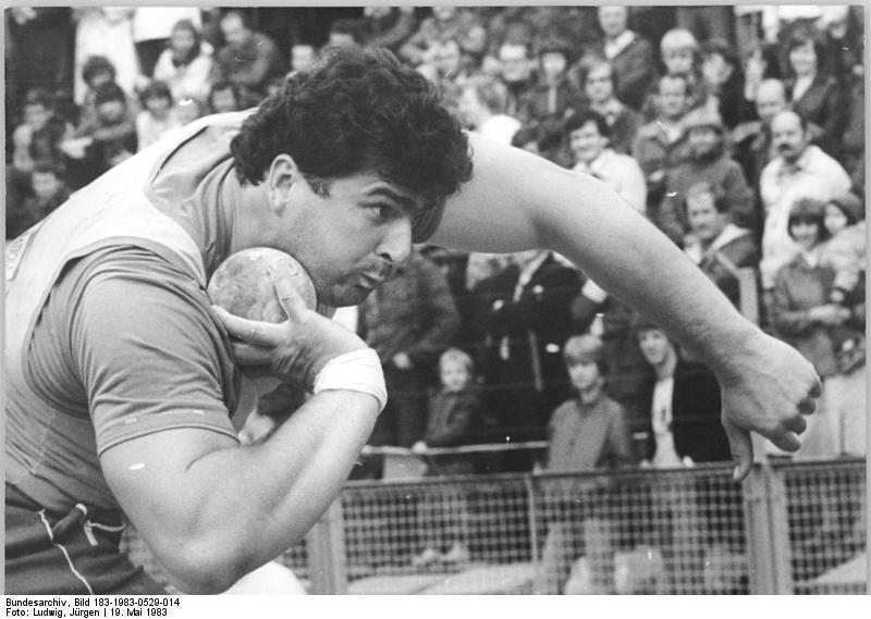 Udo Beyer en el Campeonato del Mundo de 1983 (Dopaje)