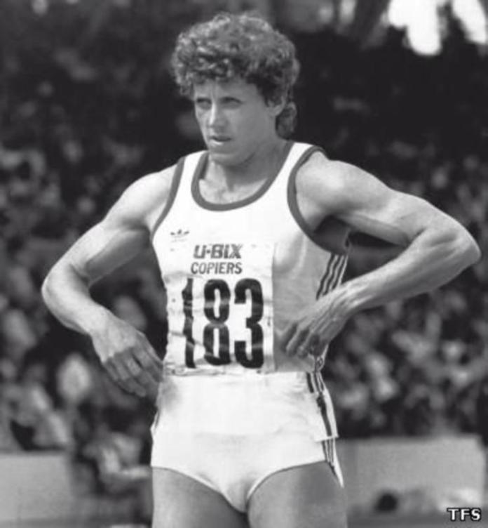 Marita Koch en una prueba preparatoria para los JJOO de 1980 (Dopaje)