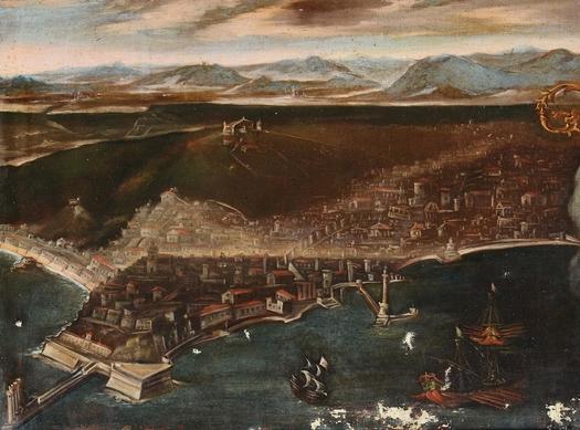 Vista de Nápoles en el siglo XVII