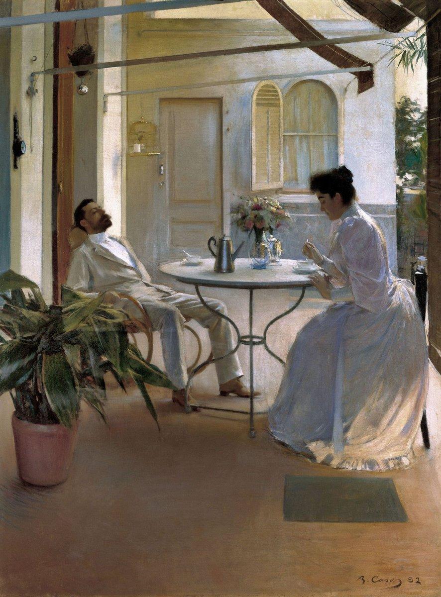 Interior a l'aire lliure - Ramon Casas (1892) | Wikimedia