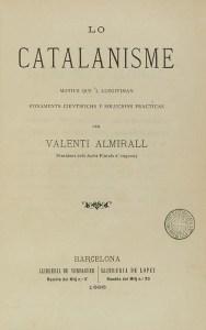 Cubierta de Lo Catalanisme, una de las obras claves del catalanismo | Enciclopèdia.cat