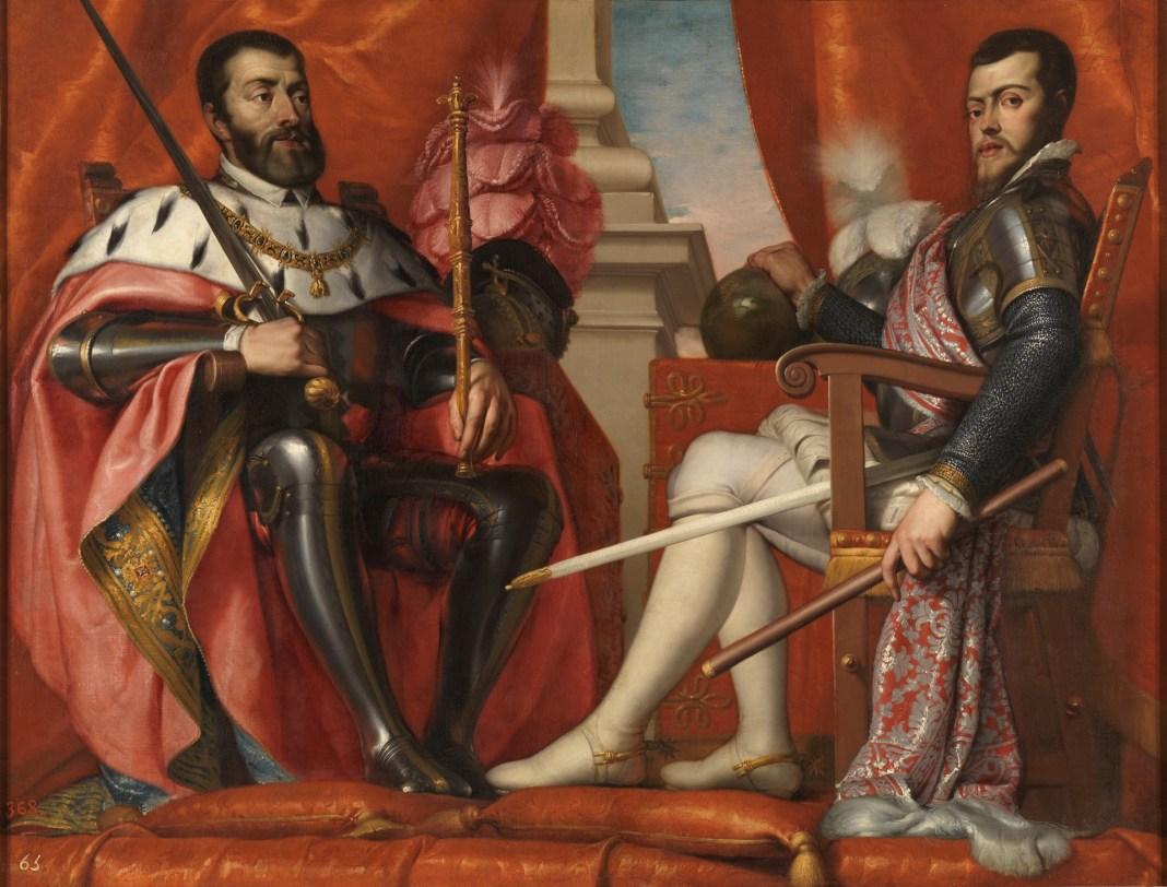 Carlos V y Felipe II (1639-40), Antonio Arias Fernández, Museo del Prado, Madrid, España.