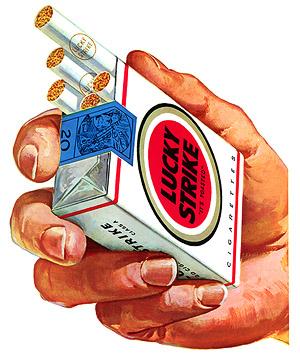 cartel propagandístico Lucky Strike. Empresa que contrató a Edward Bernays