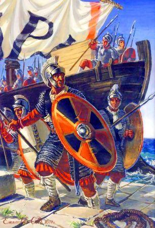 Autor y nombre desconocidos. El ejército tardorromano plantea grandes incógnitas sobre sus integrantes.