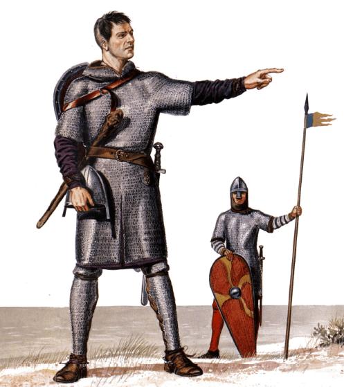 Caudillo y caballero normando durante la invasión de Inglaterra