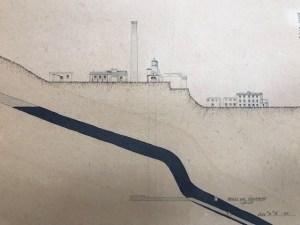 Vista de uno de los planos de la fábrica