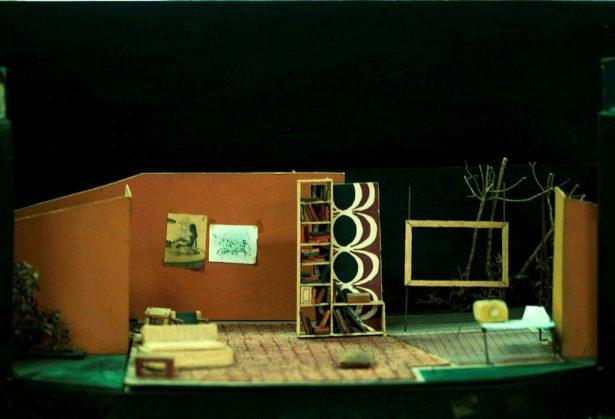 Photo of a theatre set model