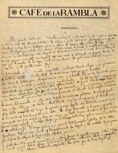 Carta de Federico García-Lorca a Salvador Dalí, 1927