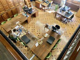 Sala de consulta de la Biblioteca de Reserva. Biblioteca de Reserva UB.
