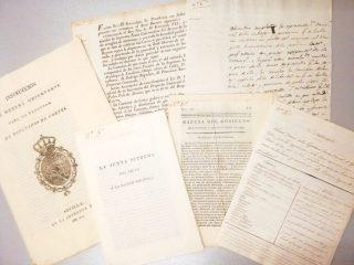 Documentos normativos anexos al texto principal del Manuscrito. Archivo Regional de la Comunidad de Madrid.