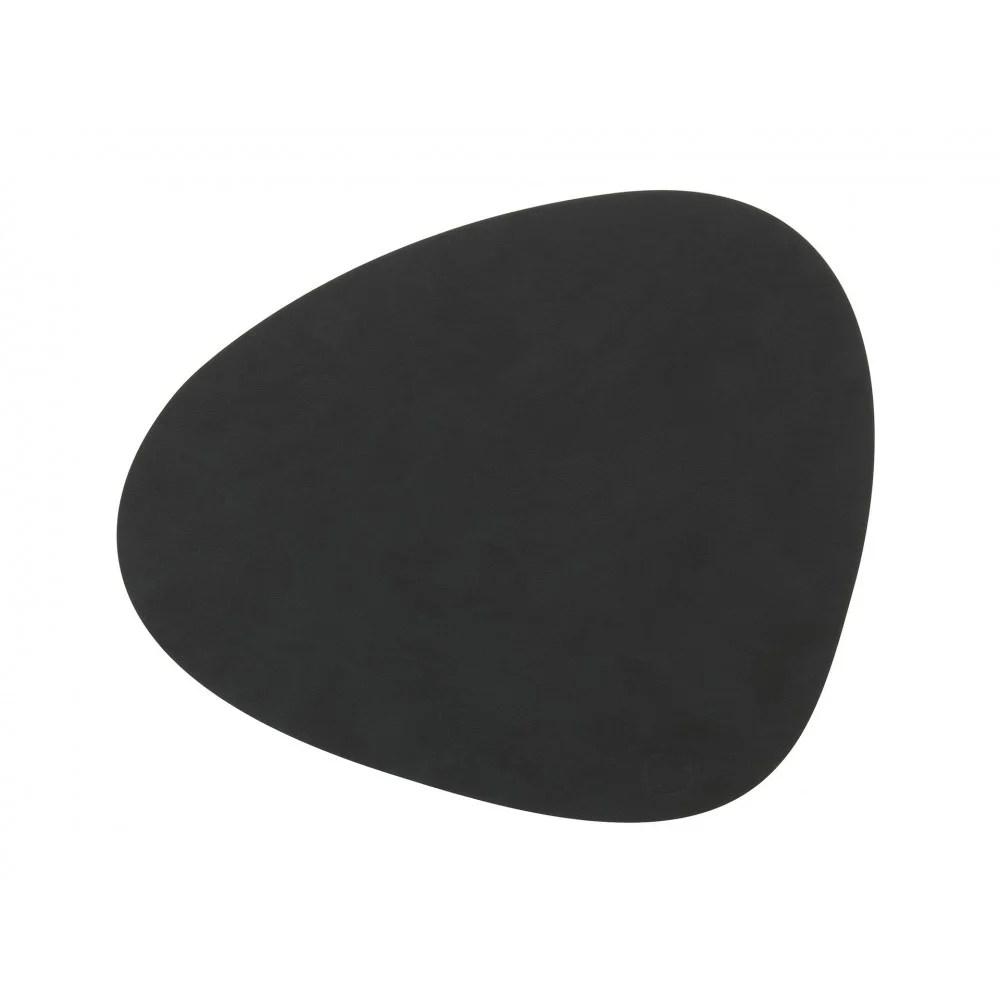 set de table curve l cuir nupo noir