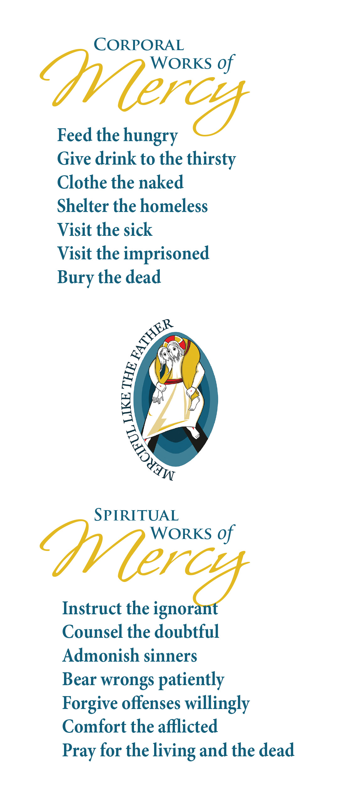 Year Of Mercy Prayer Card