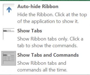 Ribbon Options