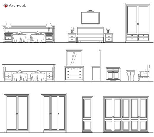 Beautiful Camera Da Letto Dwg Contemporary - Idee Arredamento Casa ...