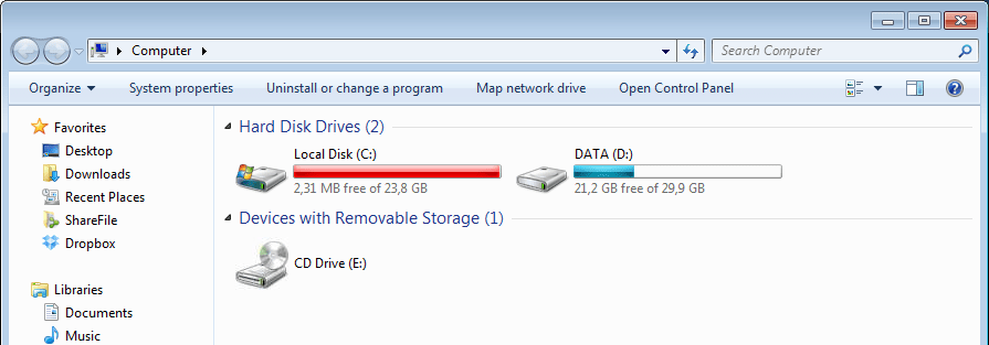 Changing UserProfile storage default location   Archy net   Don't