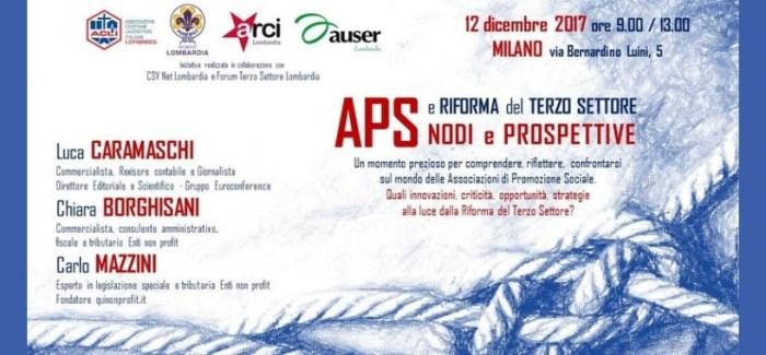 Nodi e Prospettive riforma Terzo Settore – 12 dicembre